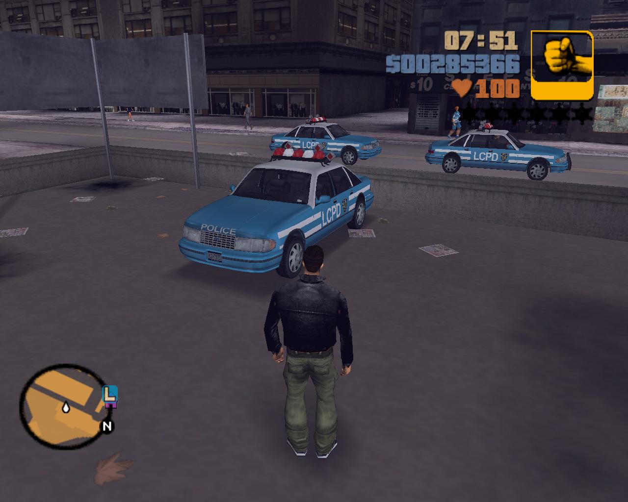 Original Grand Theft Auto  Blue Cop Cars