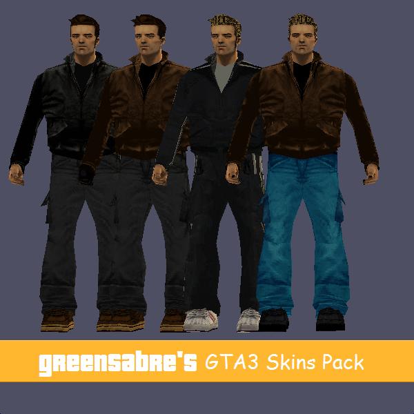 GTA3 Casual Skins Pack