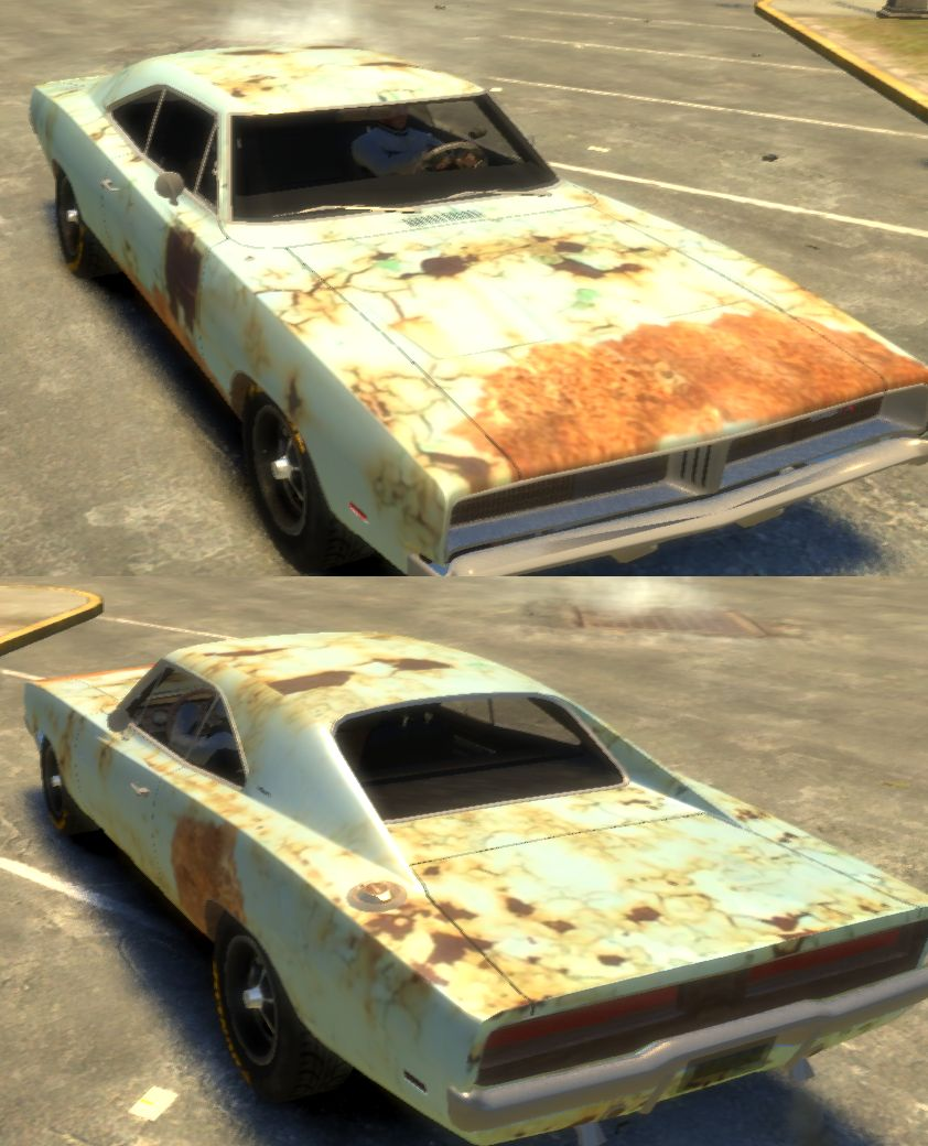 Rusty Dodge Charger RT 1969