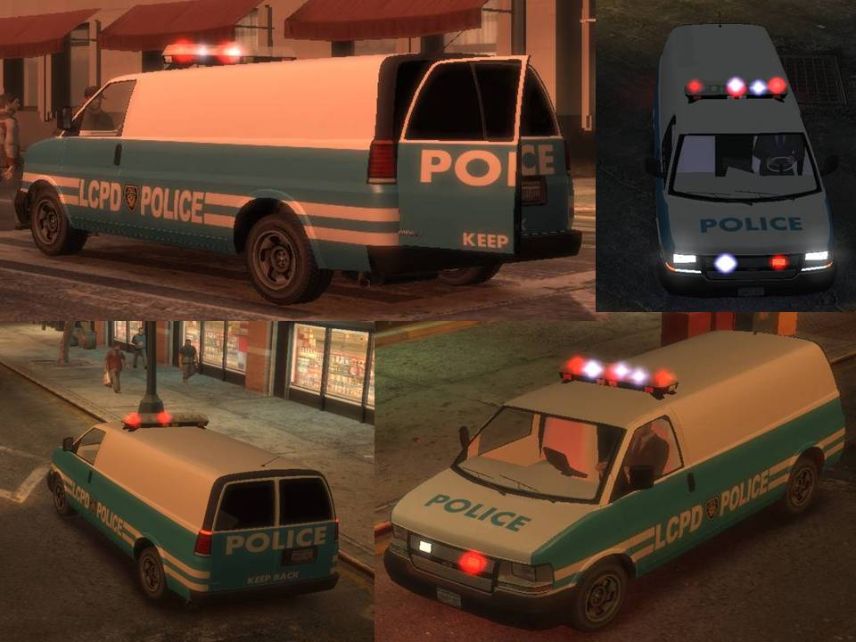 The Gta Place Lcpd Police Van
