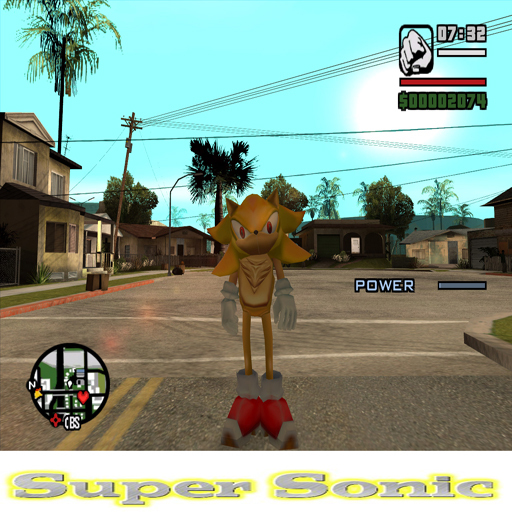 the gta place sonic mod in san andreas