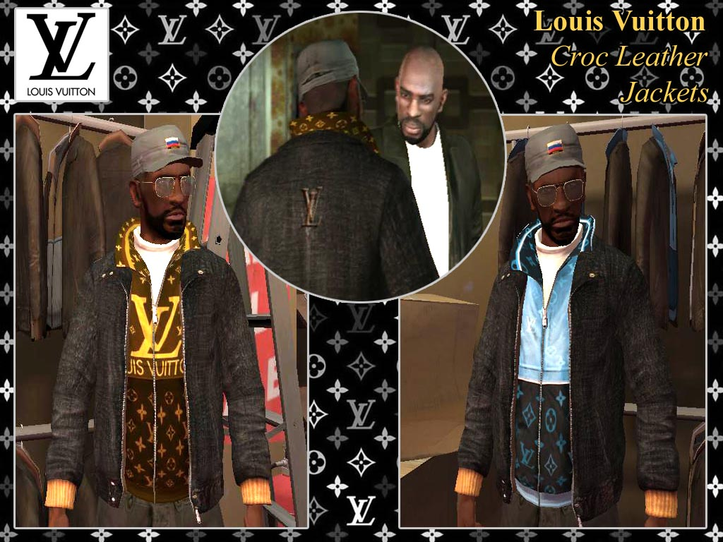 The GTA Place Louis Vuitton Croc Leather Jackets GTAIV