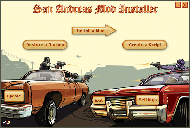 gta3 san andreas. GTA San Andreas: Mod Installer