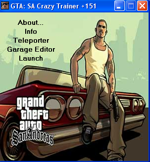 Gta san andreas crazy trainer 151