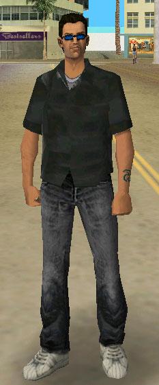 the gta place black clothes man