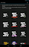 GTA Game Cheats Android tablet screenshot 01