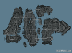 Full map of Liberty City in GTA IV